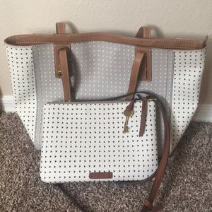 Fossil Tote and Crossbody Bundle EUC